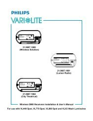Wireless DMX Receivers Installation & User's Manual For ... - Vari-Lite