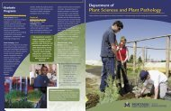 brochure - Department of Plant Sciences & Plant Pathology ...