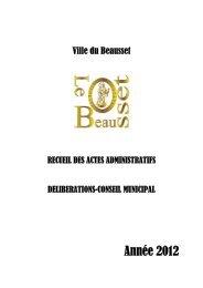 Année 2012 - Le Beausset