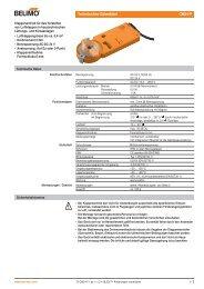 Technisches Datenblatt CM24-F - Belimo