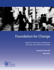 Report: Commission on Legal Aid in BC, 2011 - The Law Society of ...