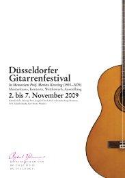Duesseldorfer Gitarrenfestival:Netzprogramm - Robert Schumann ...
