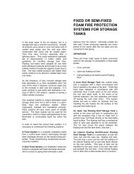 fixed or semi-fixed foam fire protection systems for storage tanks - NIFV