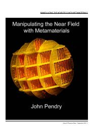 manipulating the near field with metamaterials - Condensed Matter ...