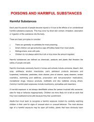 POISONS AND HARMFUL SUBSTANCES - Pacific Disaster Net