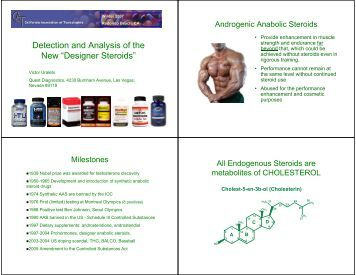 """Detection and Analysis of the New """"Designer Steroids"""""""