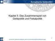 Europäische Geldpolitik I