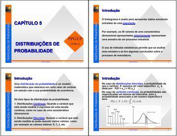CAPÍTULO 5 DISTRIBUIÇÕES DE PROBABILIDADE - Ufrgs