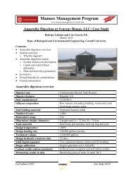 Anaerobic Digestion at Synergy Biogas, LLC - Manure Management