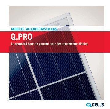 MODULES SOLAIRES CRISTALLINS Le standard haut ... - SAT Solar