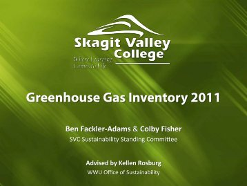 View SVC Greenhouse Gas Inventory - Skagit Valley College