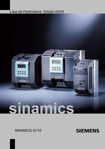 Lista de Parâmetros Edição 04/03 SINAMICS G110 - Industry