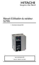 Manuel dÊUtilisation du variateur SJ7002 - Hitachi Europe GmbH