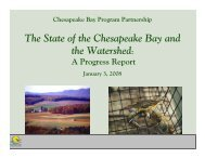 The State of the Chesapeake Bay and the Watershed Program