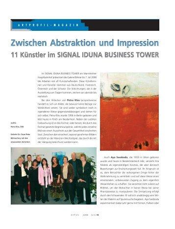 Zwischen Abstraktion und Impression Zwischen ... - Galerie Böhner