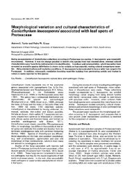 Morphological variation and cultural characteristics ofConiothyrium ...