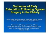 Outcomes of Early Extubation Following Bypass Surgery in the Elderly