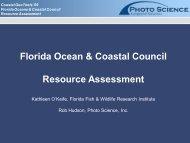 Florida Ocean & Coastal Council Resource Assessment - GeoTools
