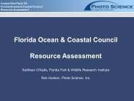 Florida Ocean & Coastal Council Resource Assessment - GeoTools