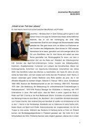 """""""Arbeit ist ein Teil des Lebens"""" - Wirtschaftsrat der CDU e.V."""
