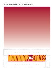 Athletics Graphics Standards Manual - Winthrop University