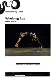 Whelping Box Branch Nebula - Performing Lines