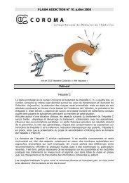 Flash addictions no10, juillet 2008, Hépatite C - Collège romand de ...