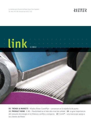 link 2 /2012 05 TRENDS & MARKETS Hilados Rieter Com4®jet ...