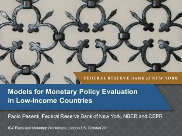 Monetary policy evaluation - IGC