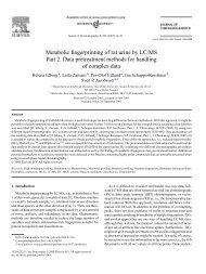 Metabolic fingerprinting of rat urine by LC/MS Part 2. Data ...