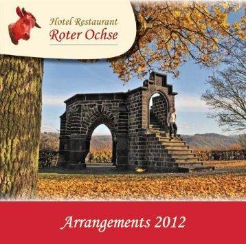Arrangements 2012 - Hotel Roter Ochse