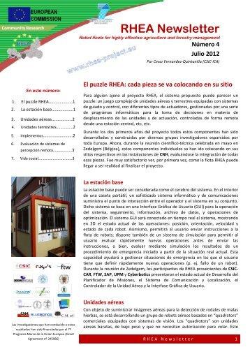 RHEA Newsletter - RHEA Project - EU
