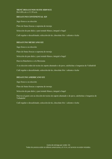 Menu - Rosewood Hotels & Resorts