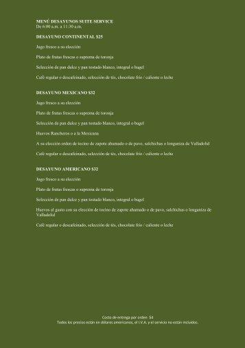 Menu - Rosewood Hotels & Resorts