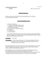 Protokoll der Vollversammlung 2012 - Agrar Bürs