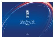 Indoor Sports Halls with Cricket Provision [TS3] - Ecb - England and ...