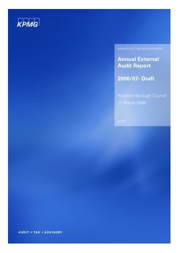 Annual External Audit Report 2006/07- Draft - Redditch Borough ...