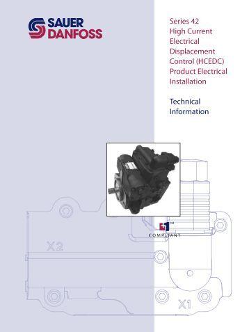 S42 High Current Electrical Displacement Control ... - Sauer-Danfoss