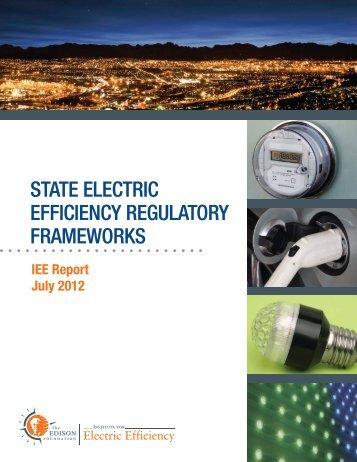 state electric efficiency regulatory frameworks - Edison Foundation