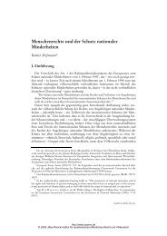 Hofmann: Menschenrechte und der Schutz nationaler Minderheiten
