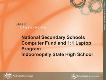 1:1 Laptop program - Indooroopilly State High School - Education ...