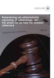 Betænkning om administrativ udvisning af udlændinge, der må ...