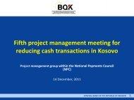 Presentation - Banka Qendrore e Republikës së Kosovës