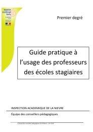 Lettre aux instituteurs primaires de Guizot - Inspection académique ...