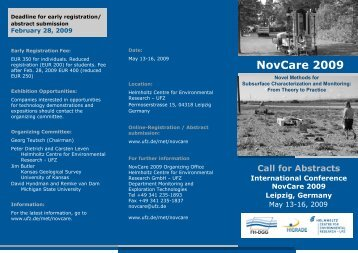 Call for Abstracts International Conference NovCare 2009 Leipzig ...