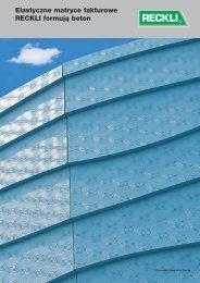 Elastyczne matryce fakturowe RECKLI formują beton