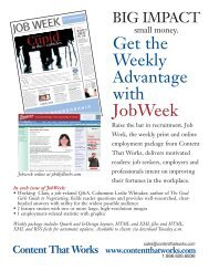 Get the Weekly Advantage with JobWeek - Content That Works