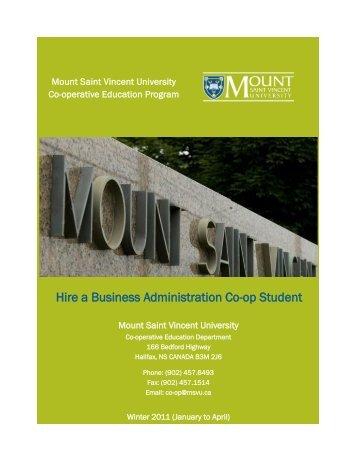Hire a Business Administration Co-op Student - Mount Saint Vincent ...