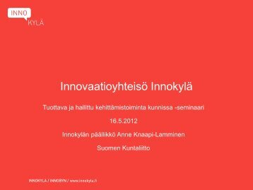 Innovaatioyhteysö Innokylä - Kunnat.net