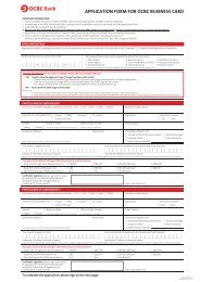 QOCBC Bank APPLICATION FORM FOR OCBC BUSINESS CARD